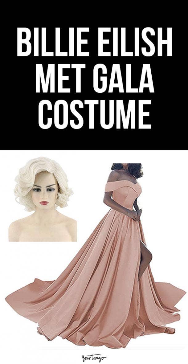 Billie Eilish Oscar de la Renta Pink Dress Marilyn Monroe Halloween Costume