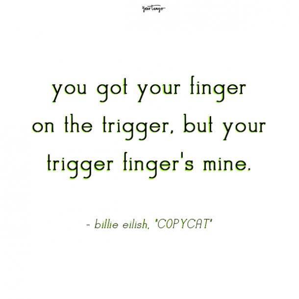 billie eilish quotes copycat