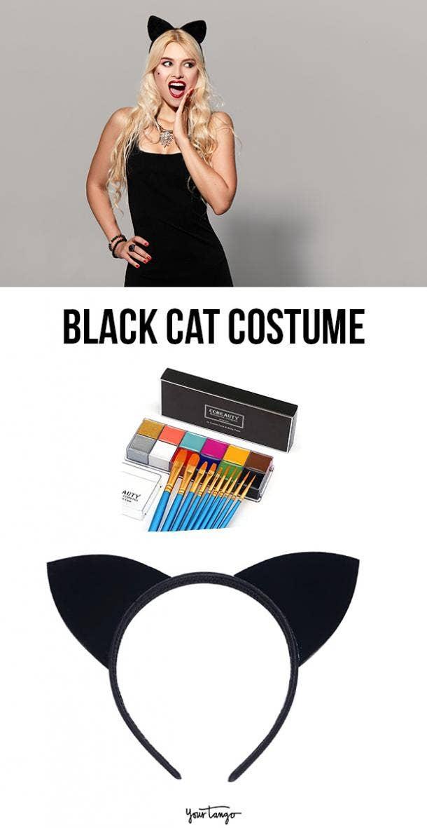 black cat last minute halloween costumes