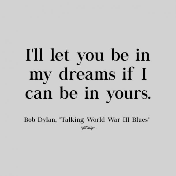 bob dylan cute love quote
