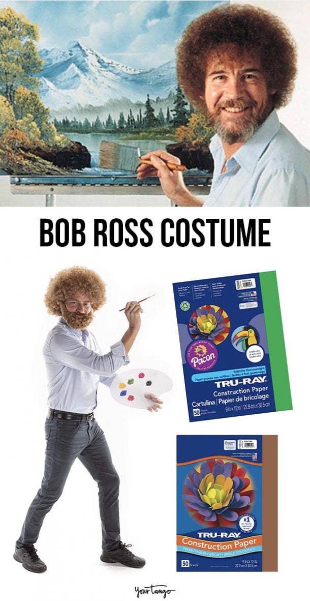bob ross last minute halloween costumes