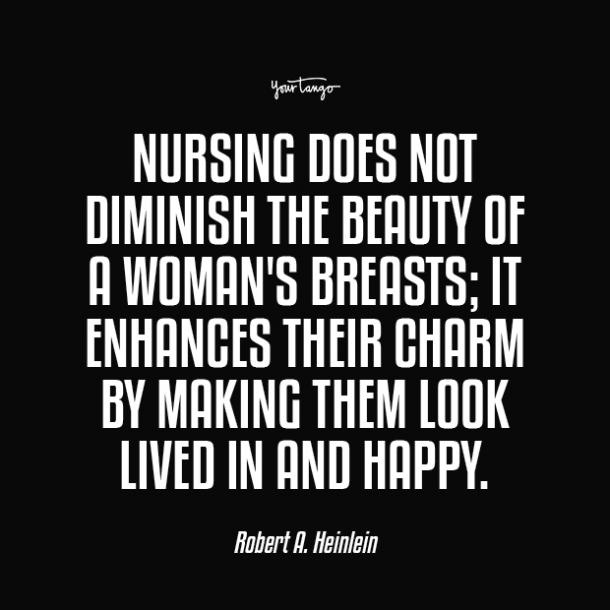 nursing does not diminish boobs quotes