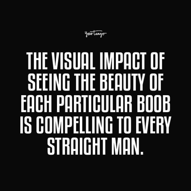 the visual impact of seeing the beauty boobs quotes