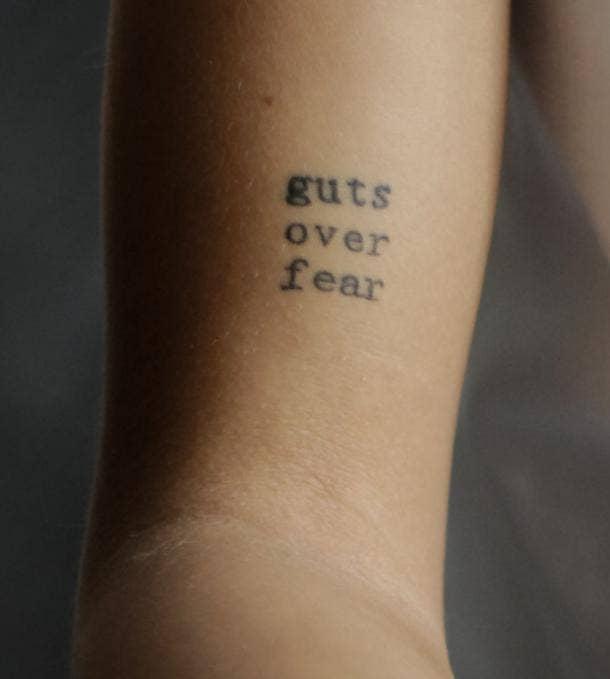 brave quote tattoo idea for women