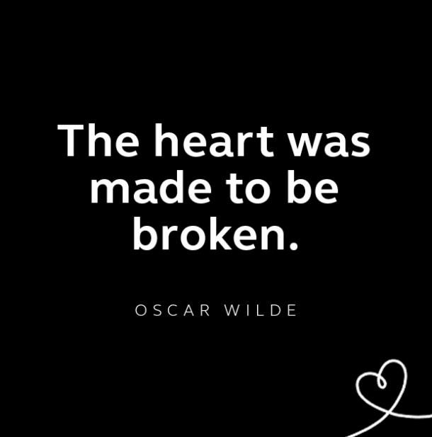 Oscar Wilde breakup quote