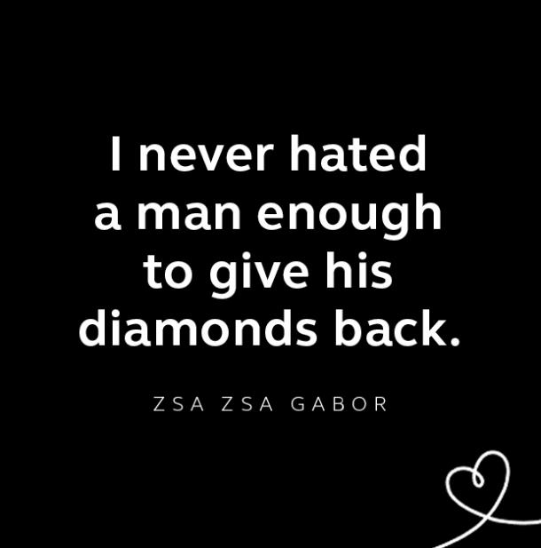 Zsa Zsa Gabor breakup quote