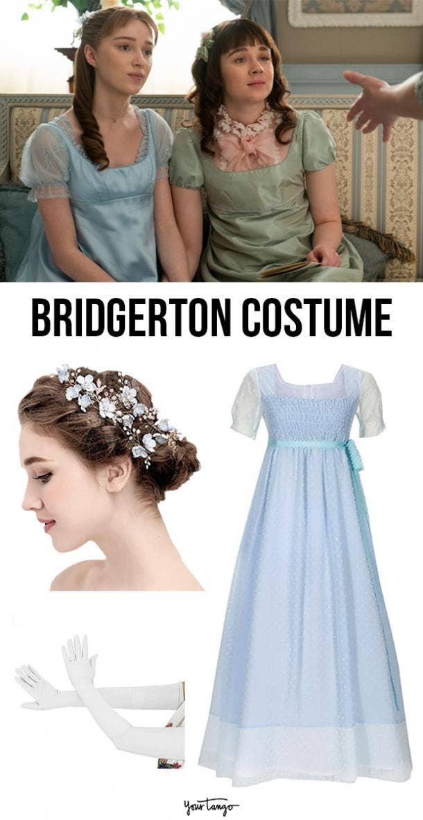"""Bridgerton"" Inspired Dress Costume"