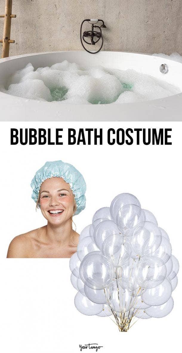 bubble bath last minute halloween costumes