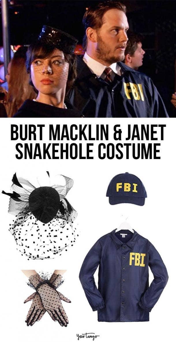 burt macklin and janet snakehole costume last minute halloween costumes