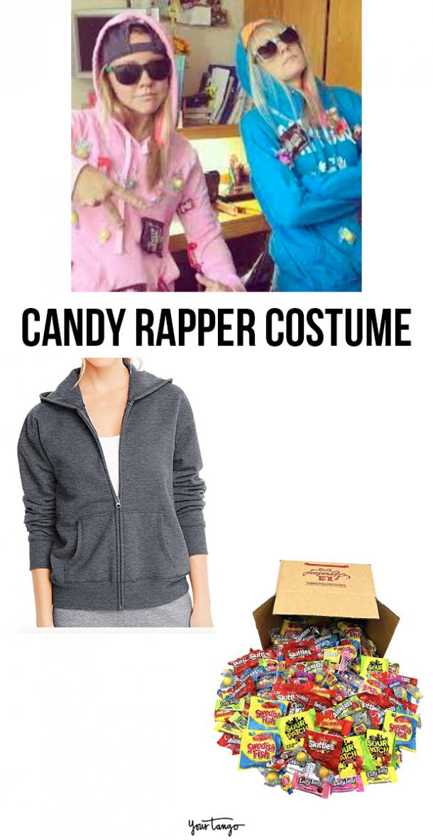 candy rapper last minute halloween costumes
