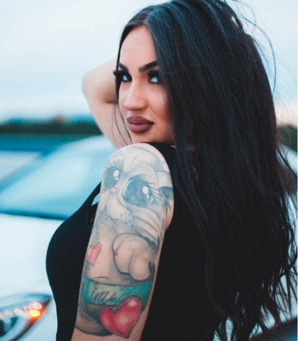 cat tattoo idea for women