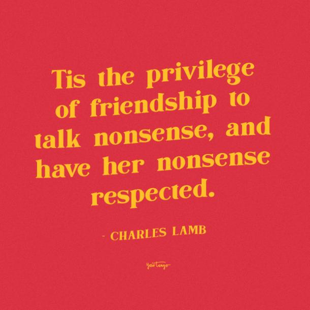 Charles Lamb funny friendship quotes