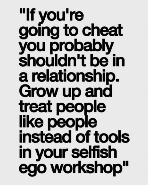 if youre going to cheat