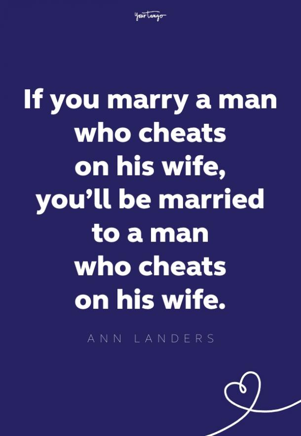 When wife husband leaves cheats What To