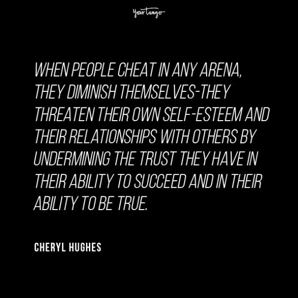 Cheryl Hughes cheating quotes