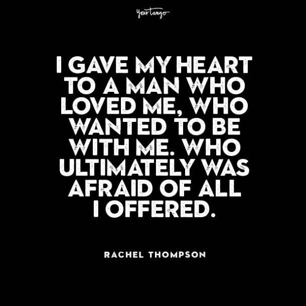 Rachel Thompson cheating quotes