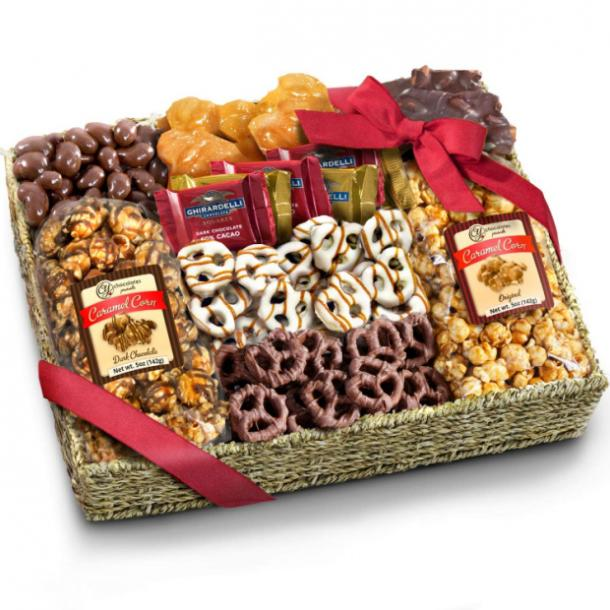 Chocolate Caramel and Crunch Grand Gift Basket mothers day gift for girlfriend