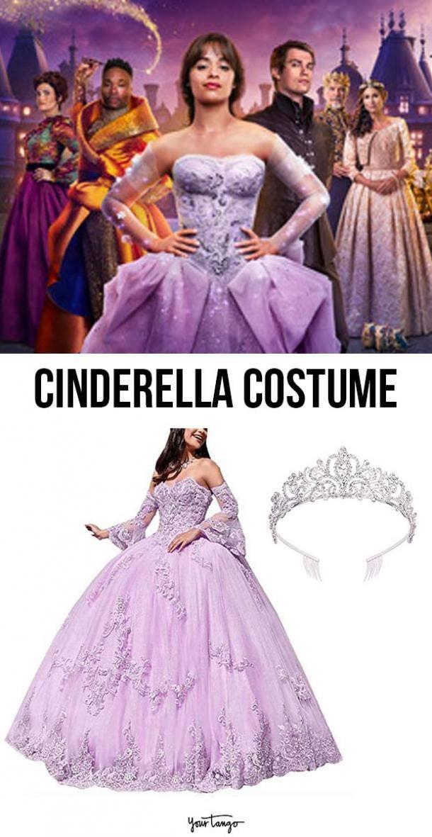 Camilla Cabello's Purple Cinderella Costume