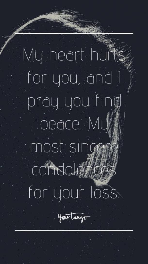 condolences text message