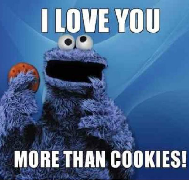 cookie I love you meme