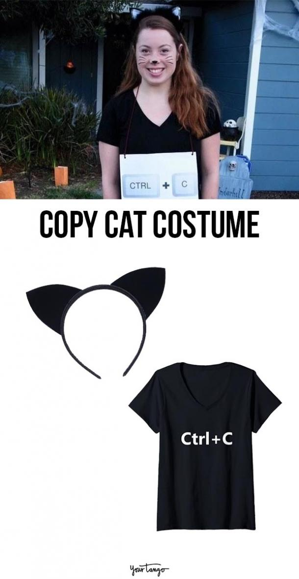 copy cat last minute halloween costumes