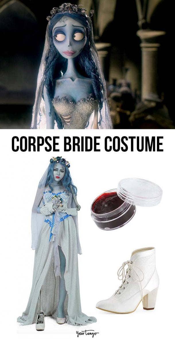 """Corpse Bride"" Emily Tattered Wedding Dress Costume"