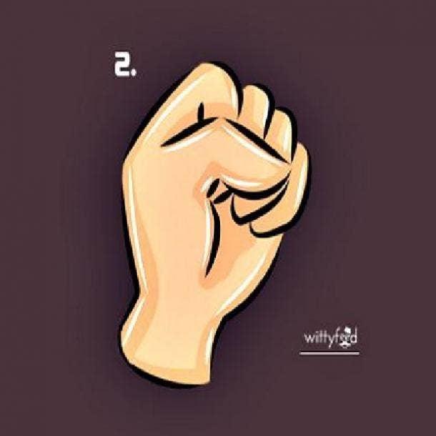 creative person fist