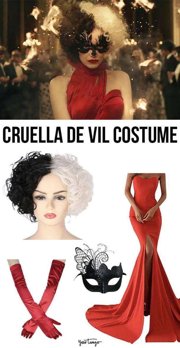 """Emma Stone's """"Cruella"""" Red Dress Costume"""