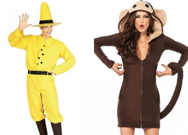 curious george couples costume