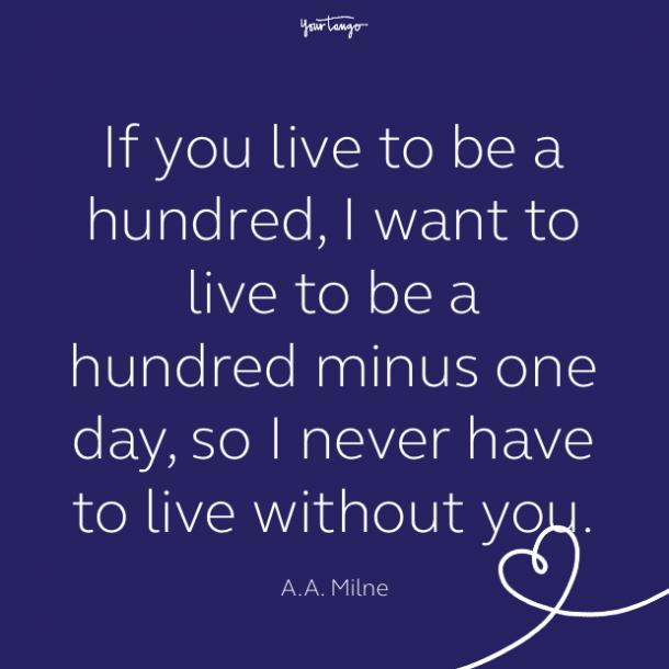 cute love quote by AA Milne