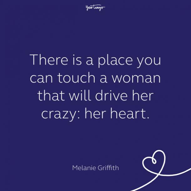 cute love quote by melanie griffith