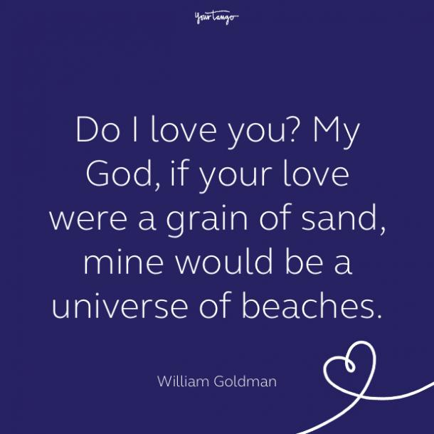 cute love quote by william goldman