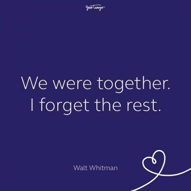 cute love quote by Walt Whitman