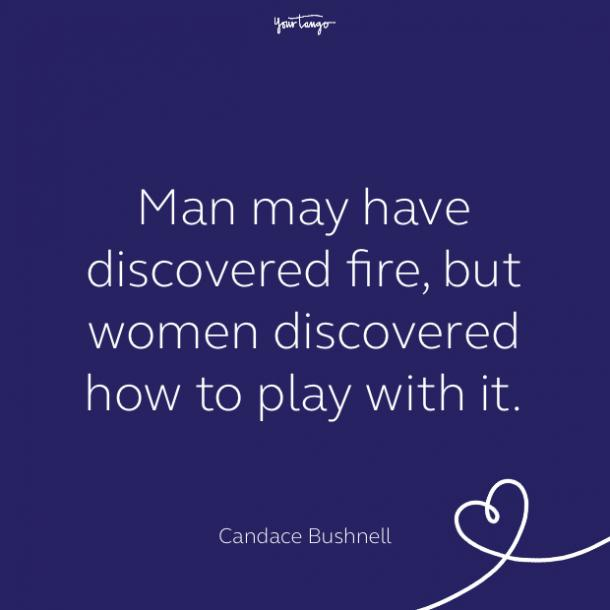 cute love quote by candace bushnell