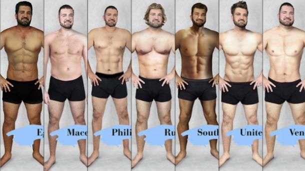 defined abs male body types