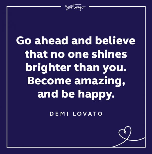 demi lovato quotes become amazing be happy