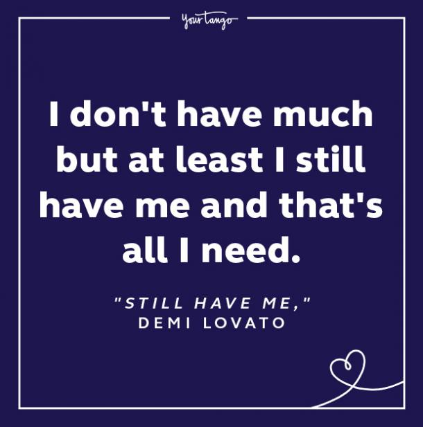 demi lovato quotes still have me lyrics