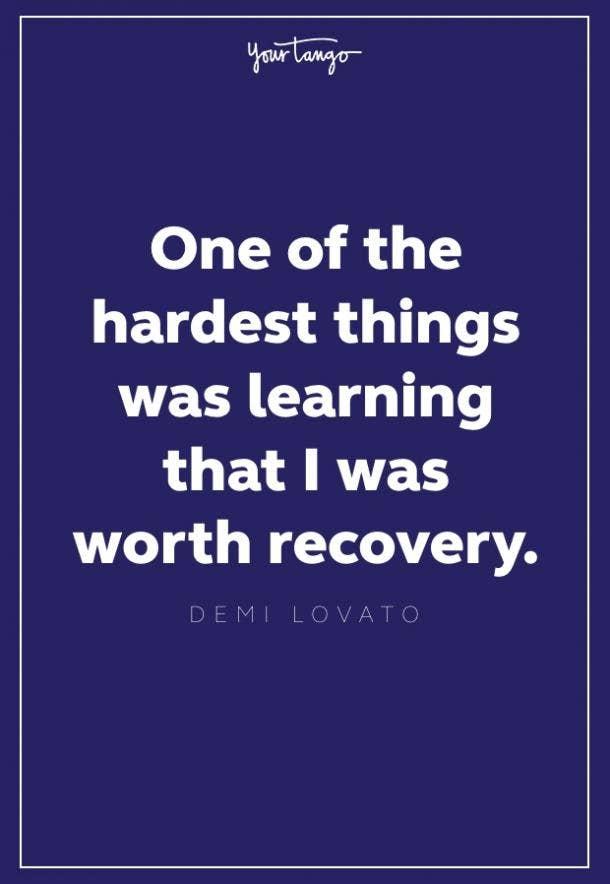 demi lovato recovery quote