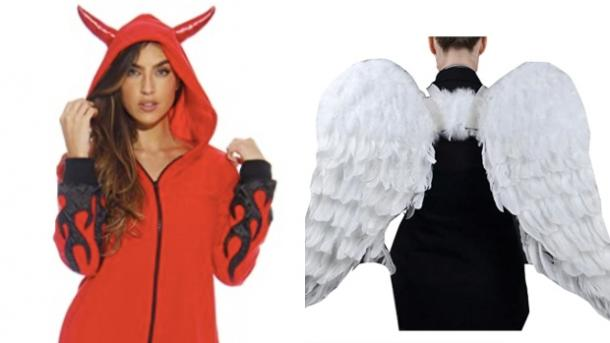 devil and angel costumes