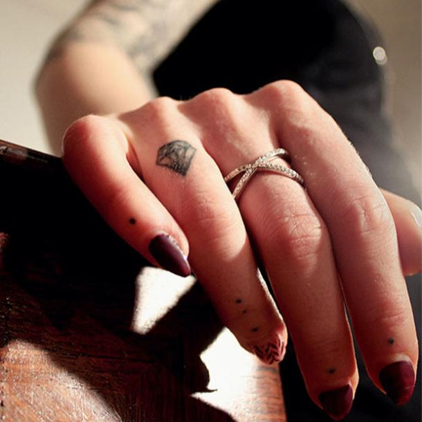 diamond engagement ring tattoo