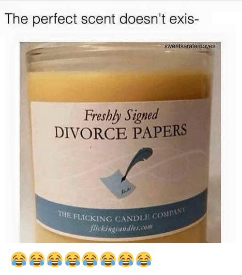 divorce candle meme