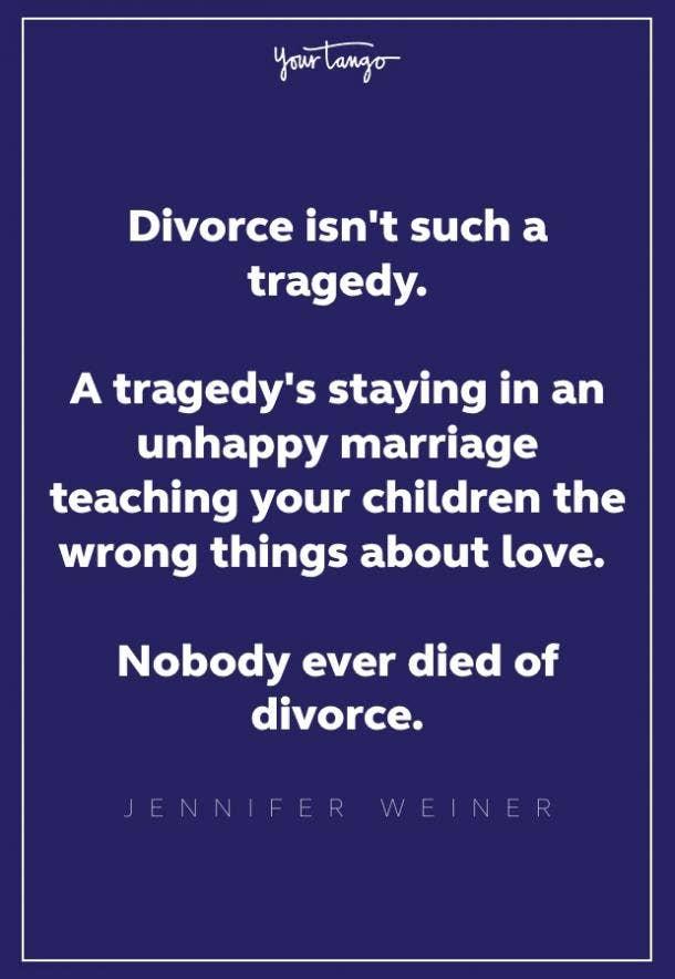 jennifer weiner divorce quote