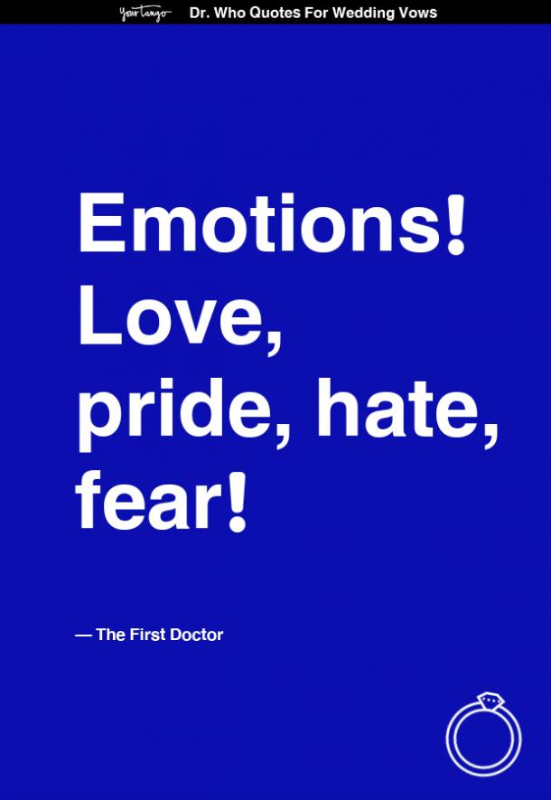 Dr Who Quote Wedding Vows