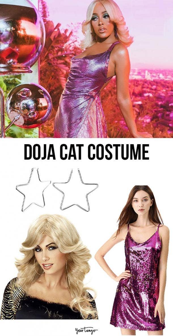 "Doja Cat Sparkly Pink ""Say So"" Dress Costume"