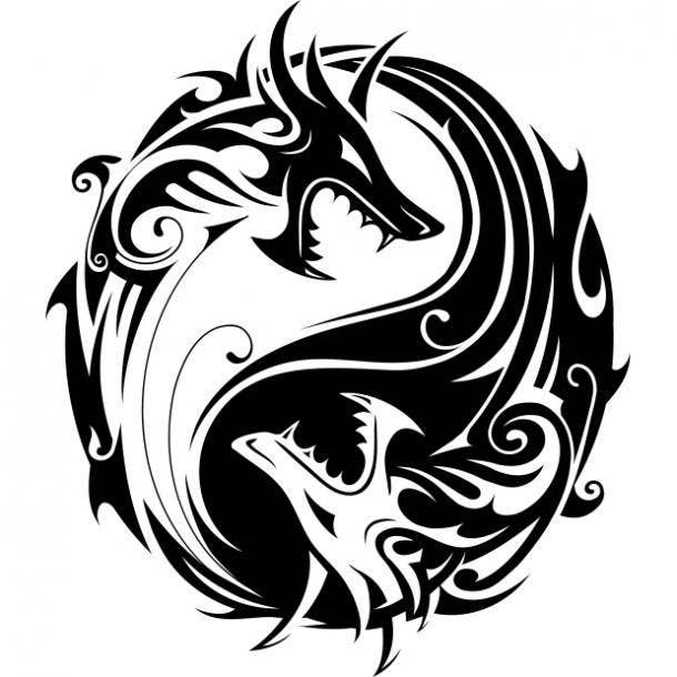 Dragon heads tattoo
