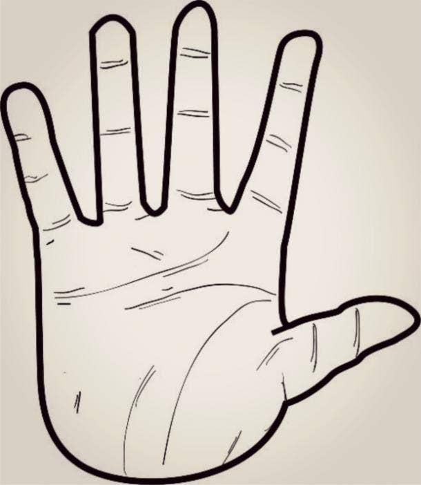 earth hand shape palm reading