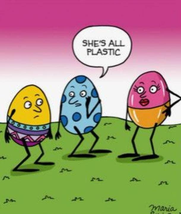 easter memes plastic egg