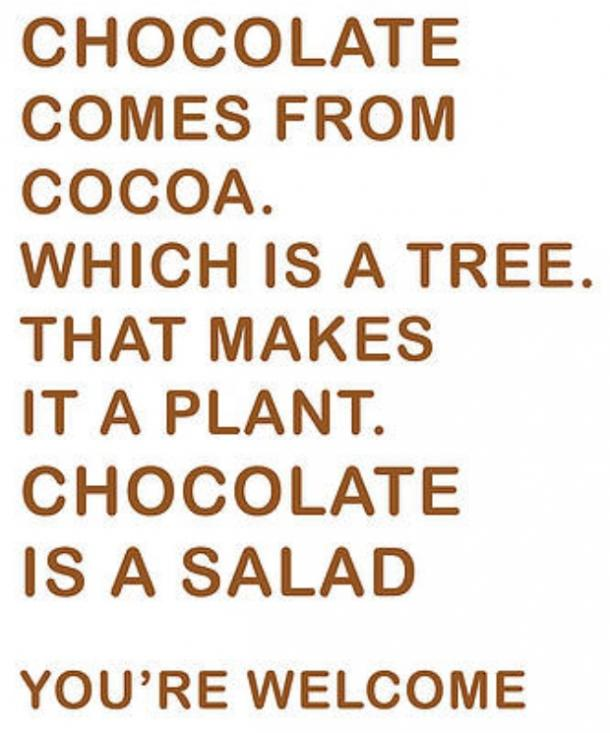 easter memes chocolate is a salad