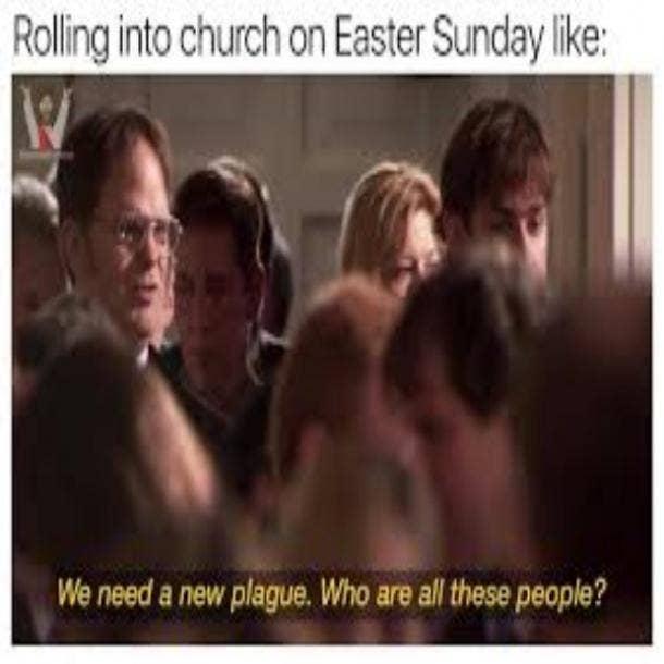easter memes church easter sunday