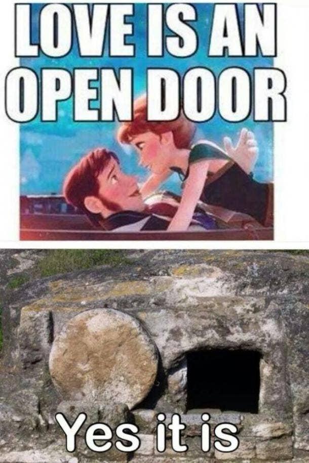 easter memes love is an open door